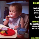 Toddler Dinners: Breakfast Part 2
