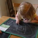 Sew Curly Chalkboard Placemats