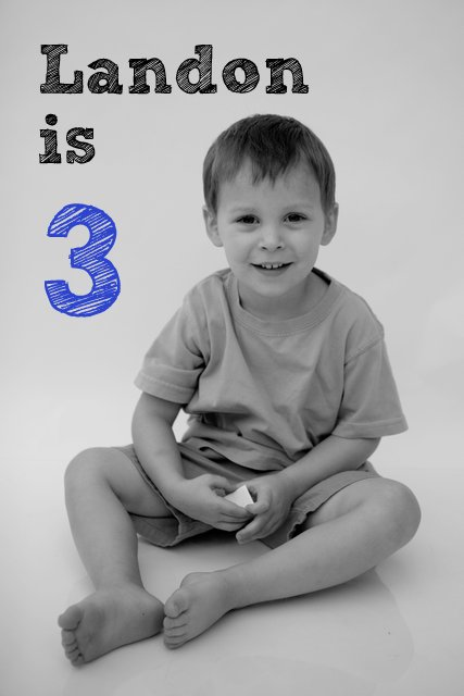 Landon is 3