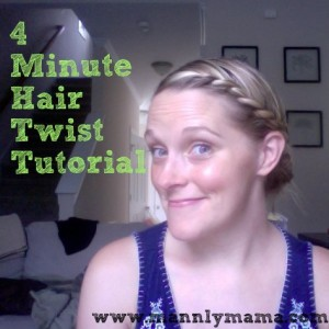 Mannlymama's 4 minute hair twist tutorial