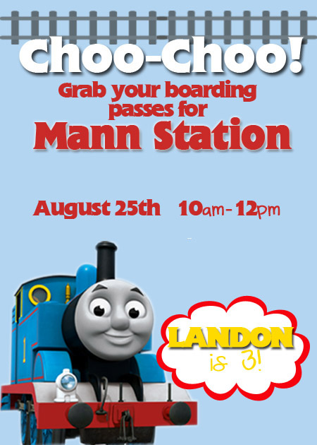 Thomas the Train invite