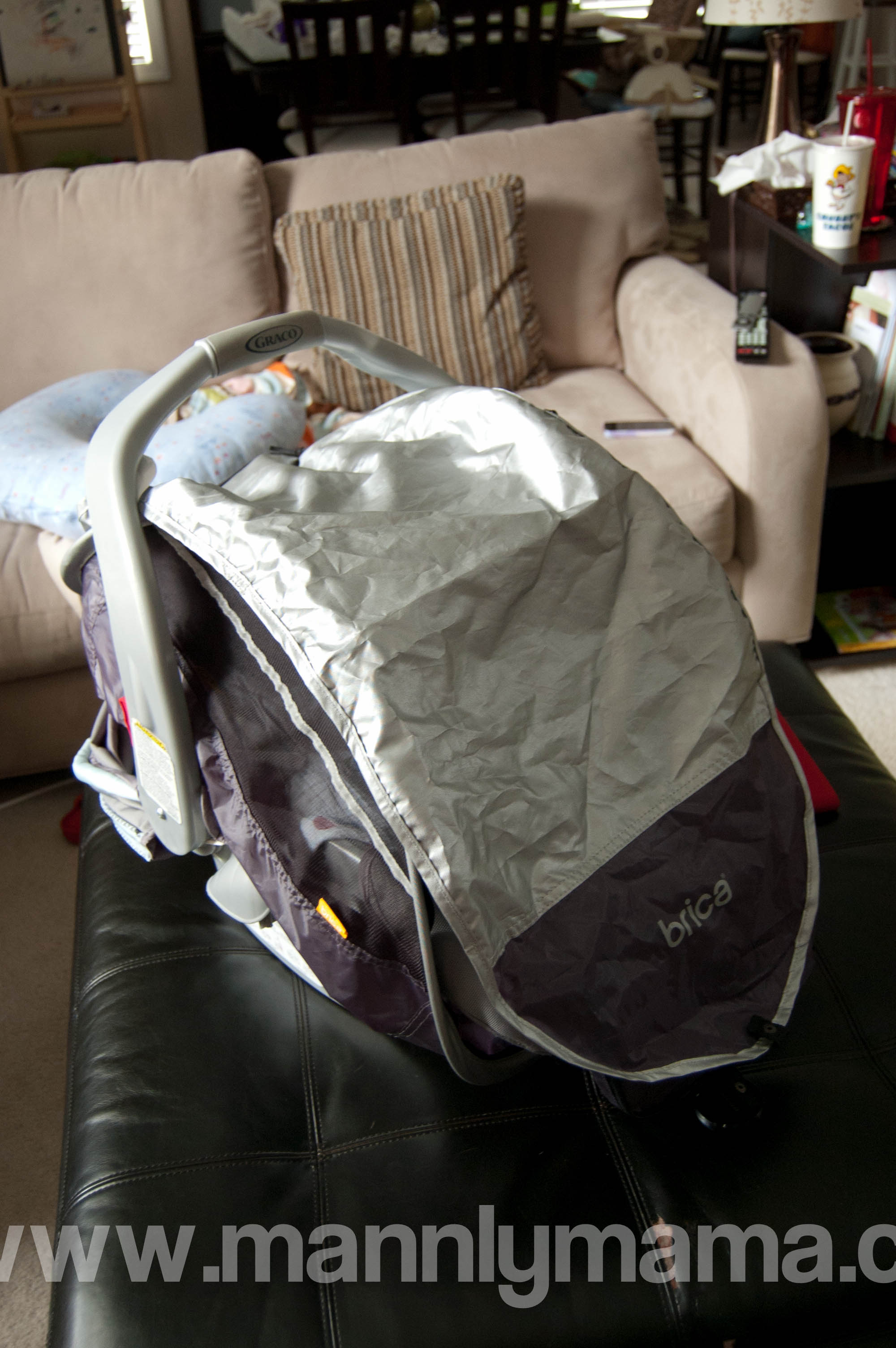 Brica Infant comfort Canopy Sun cover & Review: Brica Infant Comfort Canopy Car Seat Cover u2013 mannlymama